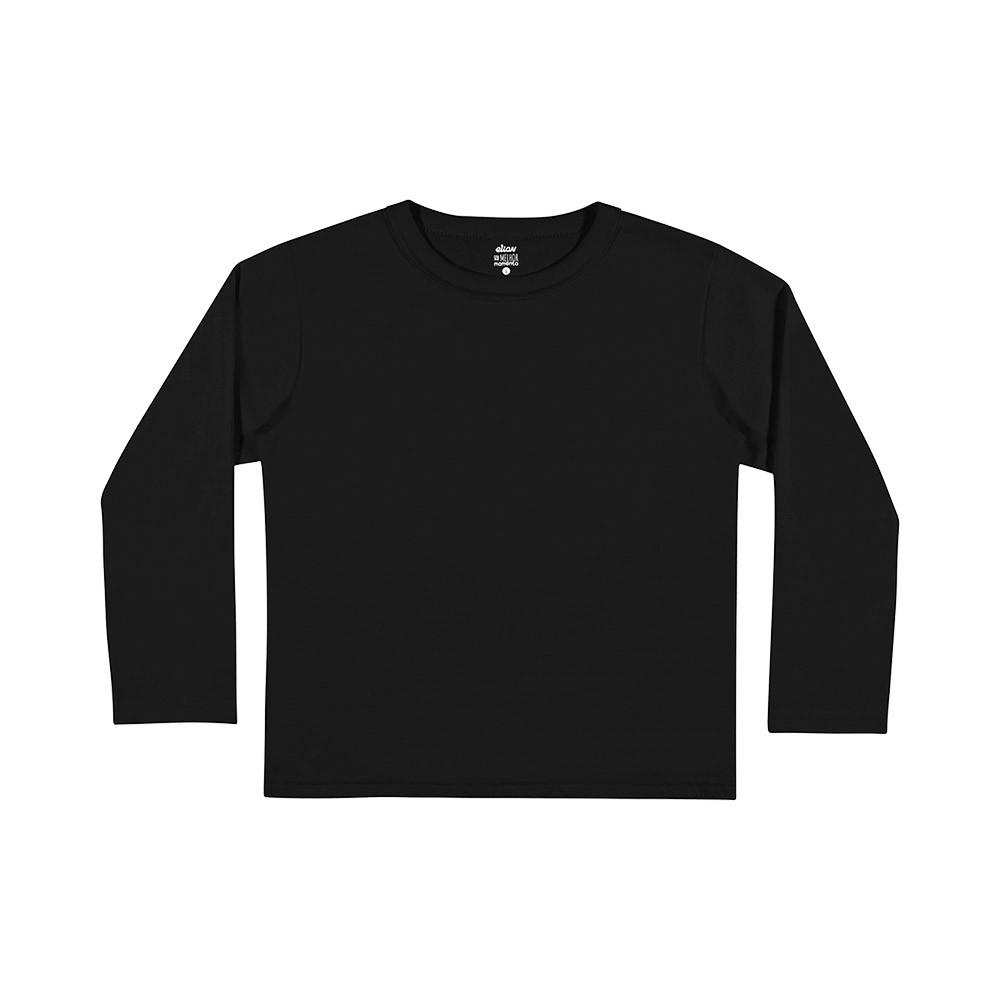 Camiseta Manga Longa Preta