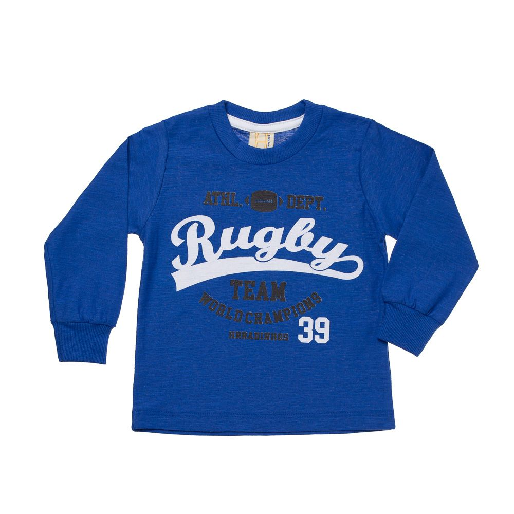 Camiseta Manga Longa Rugby Team Royal