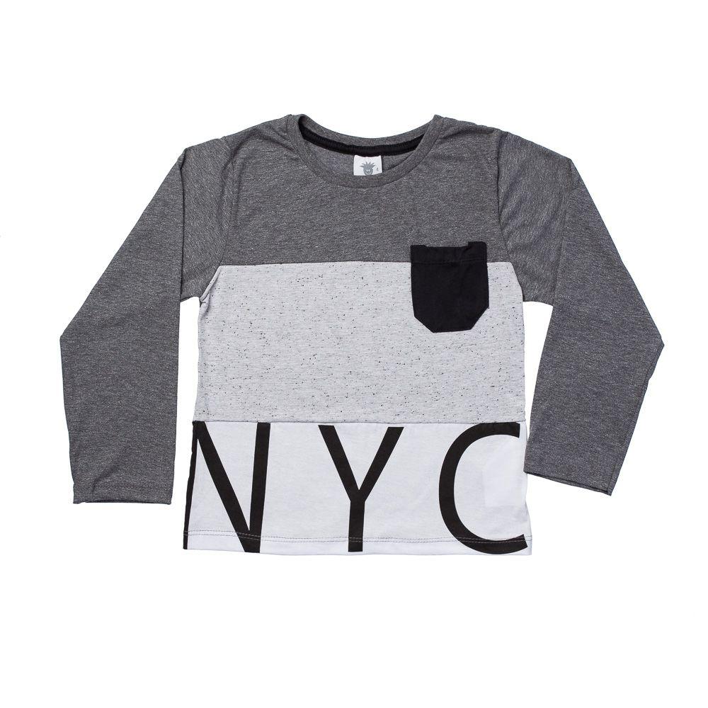 Camiseta NYC Chumbo ML