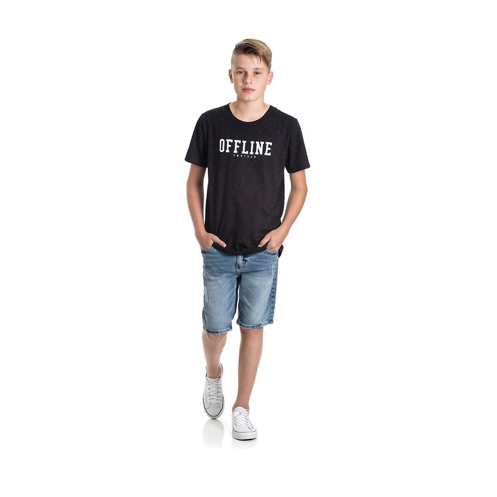Camiseta Offline Preta