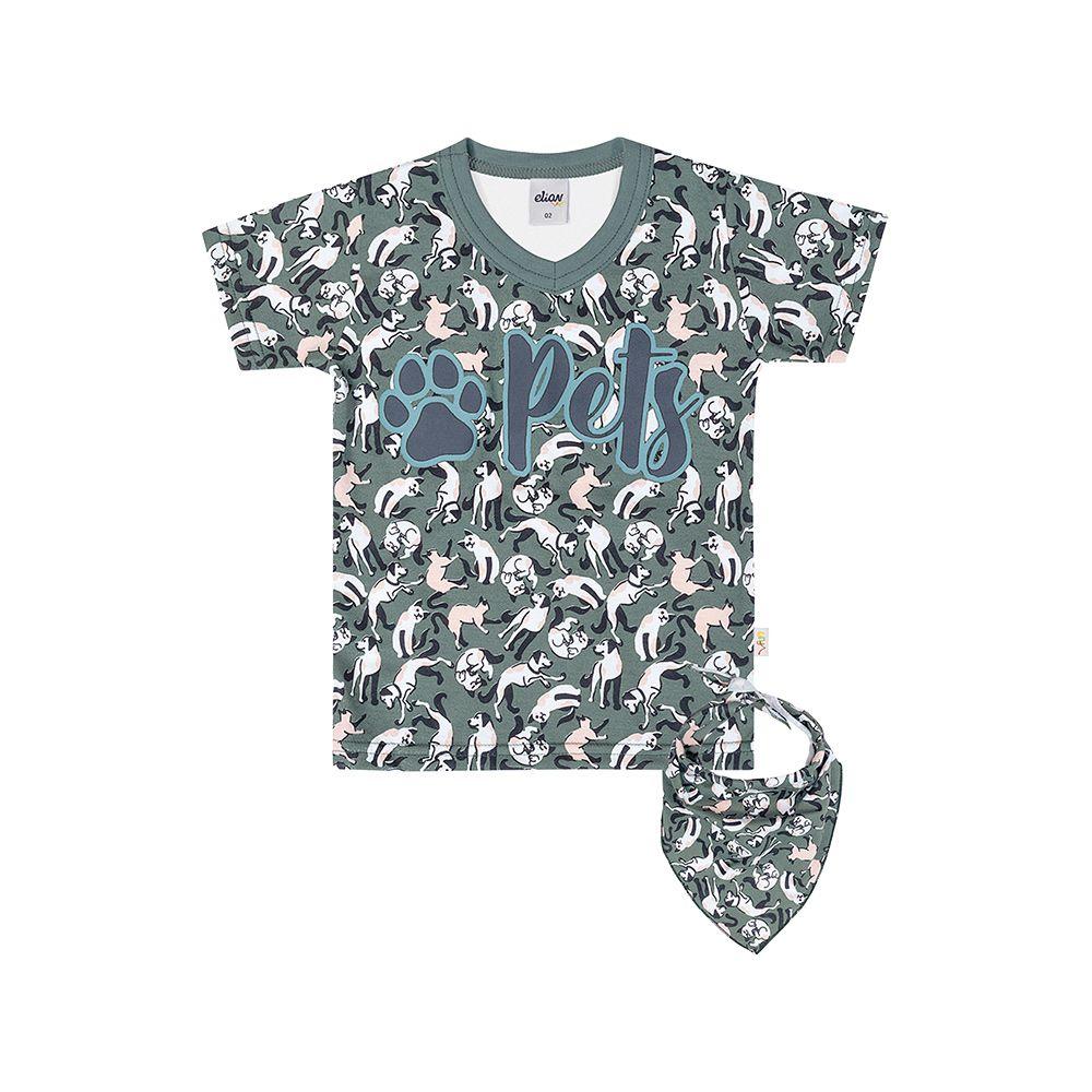 Camiseta Pet com Bandana para  Pet