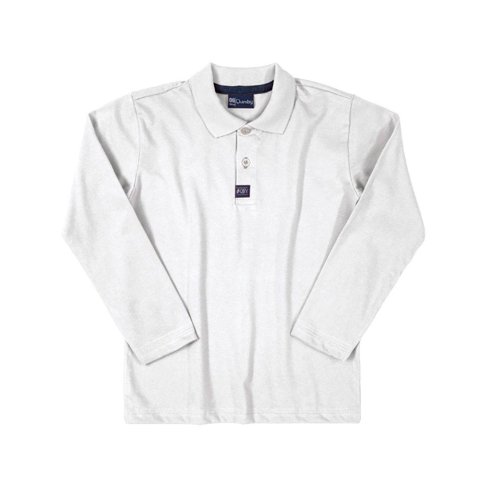 Camiseta Pólo Quimby Branca