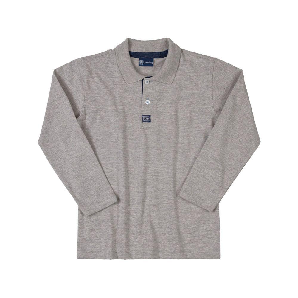 Camiseta Pólo Quimby Cinza