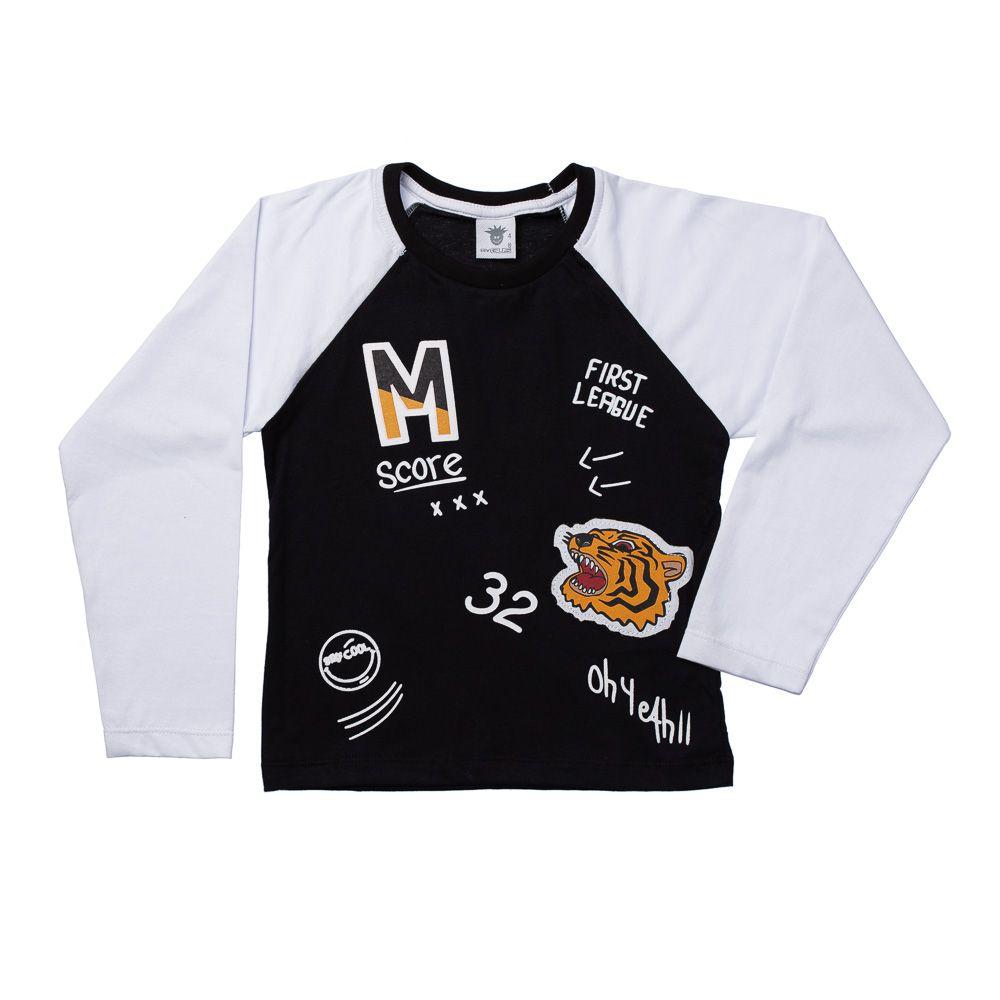 Camiseta Tigre Preta ML