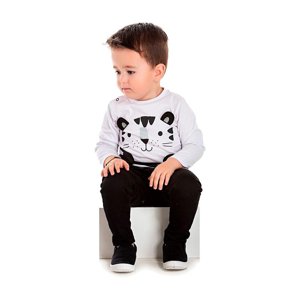 Camiseta Tigrinho Branca