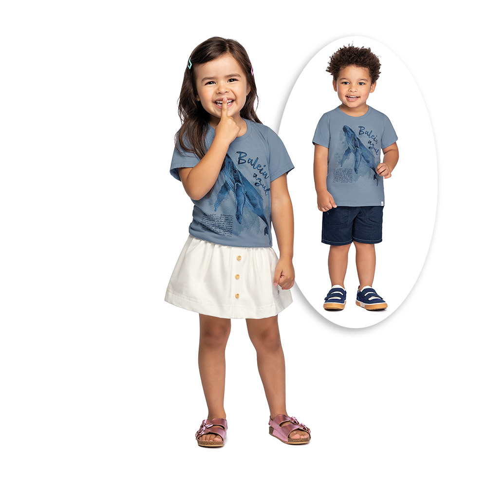 Camiseta Unissex Baleia Azul Colorittá