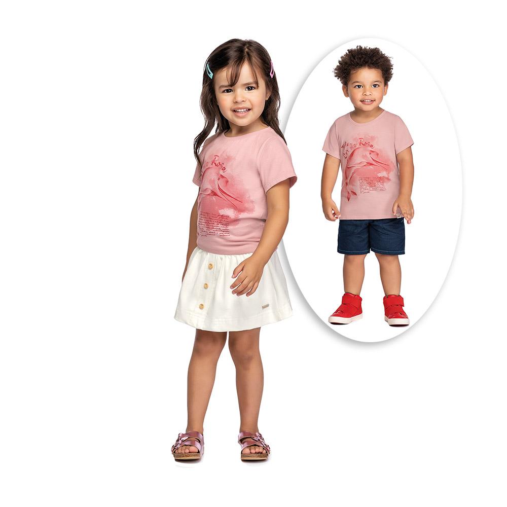 Camiseta Unissex Boto Cor de Rosa Colorittá