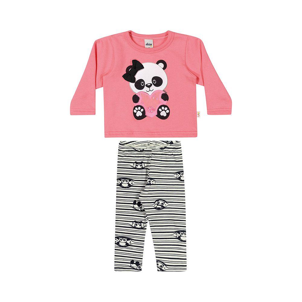 Conjunto Panda Rosa