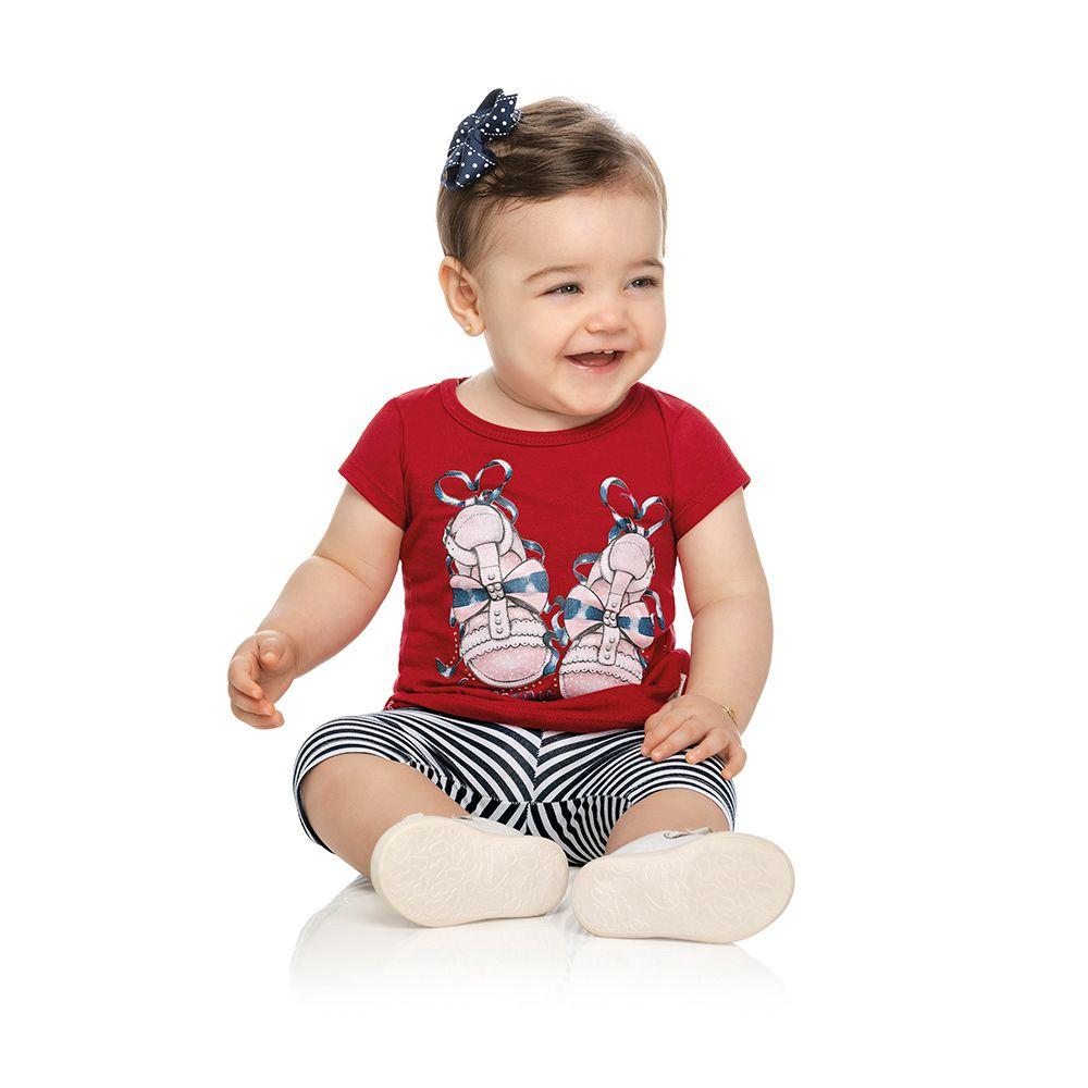 Conjunto Sapatinhos Baby Vermelho
