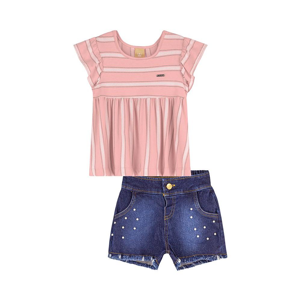 Conjunto Bata com Jeans Colorittá