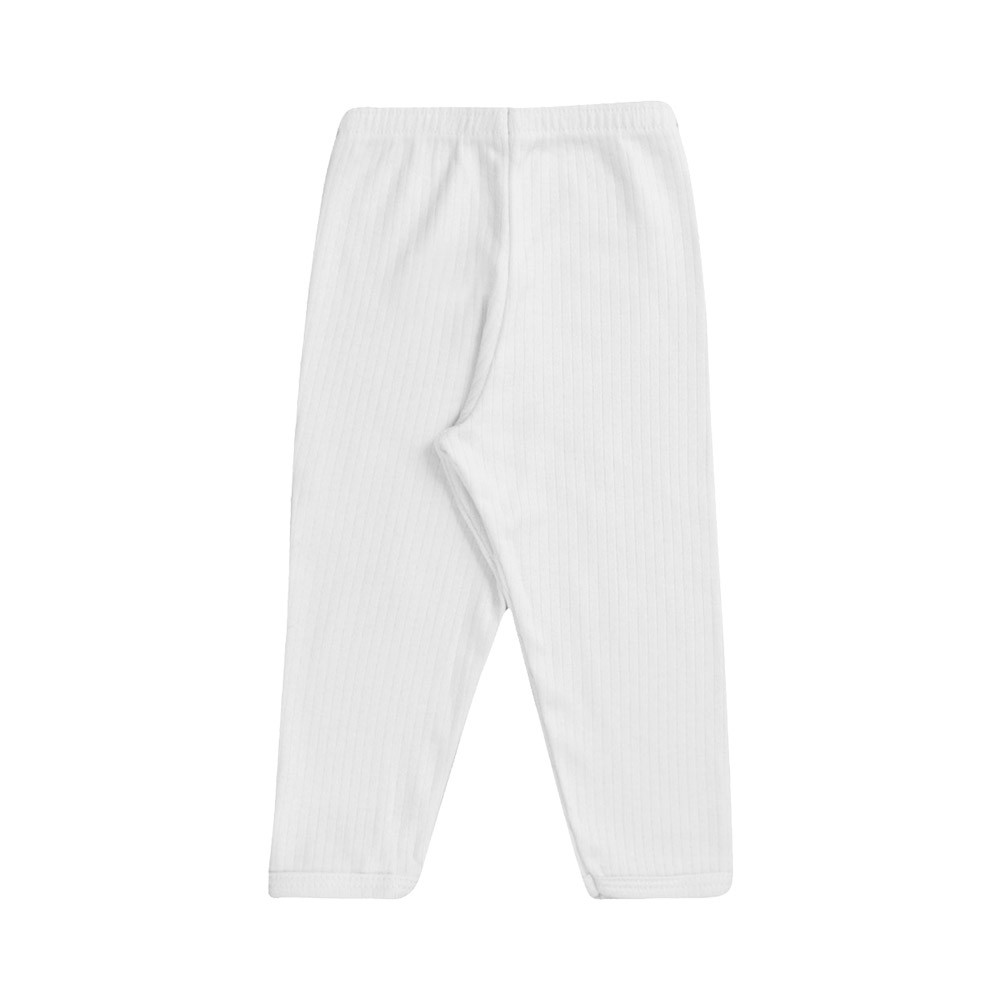 Conjunto Blusa e Calça Canelado 100% algodão Branco