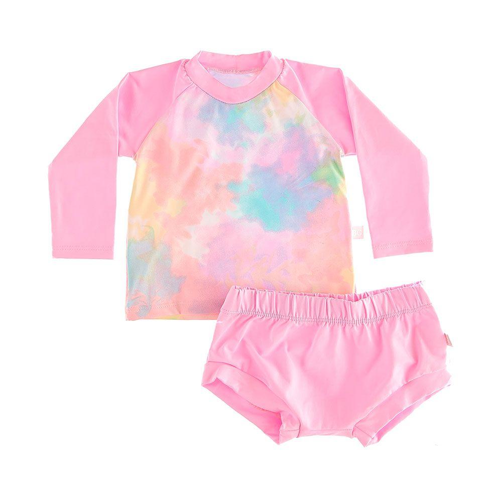Conjunto Blusa e Calçinha Colors Com Proteção Solar