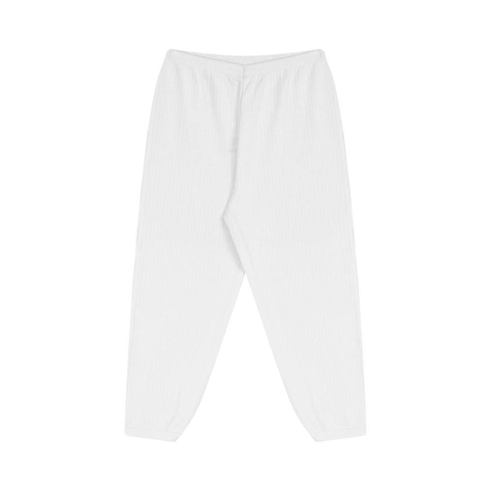 Conjunto Blusinha e Calça Canelado 100% algodão Branco