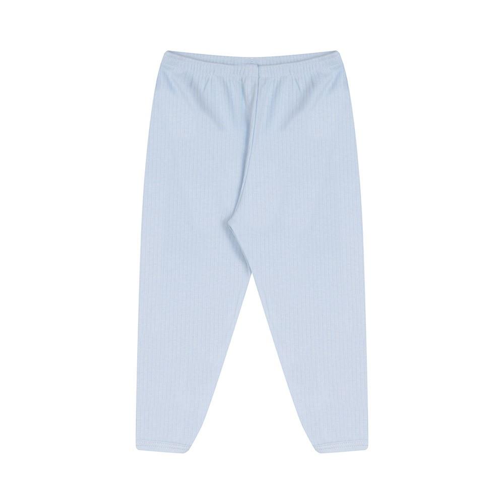 Conjunto Body e Calça Canelado 100% algodão Azul Claro