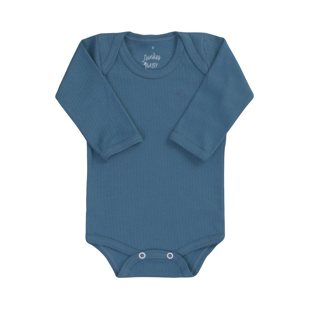 Conjunto Body e Calça Canelado 100% algodão Azul Escuro