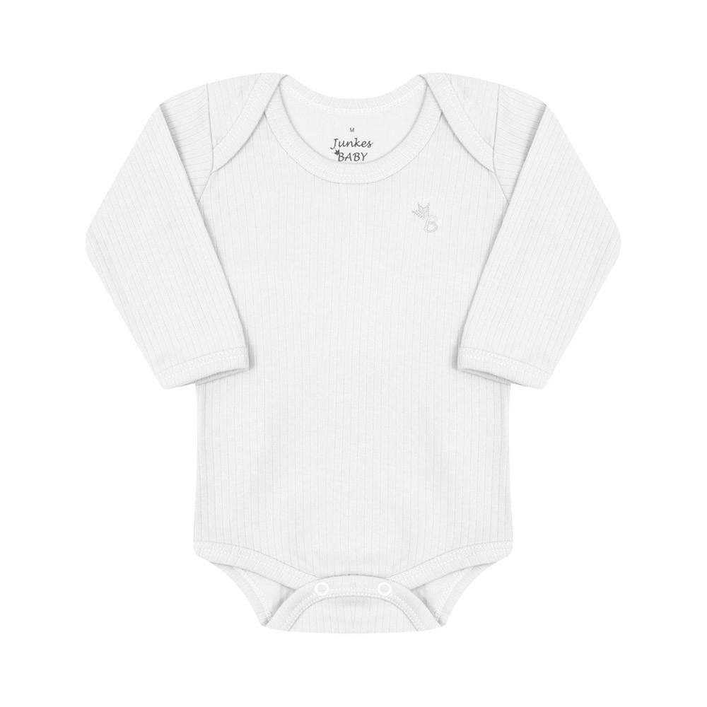 Conjunto Body e Calça Canelado 100% algodão Branco.
