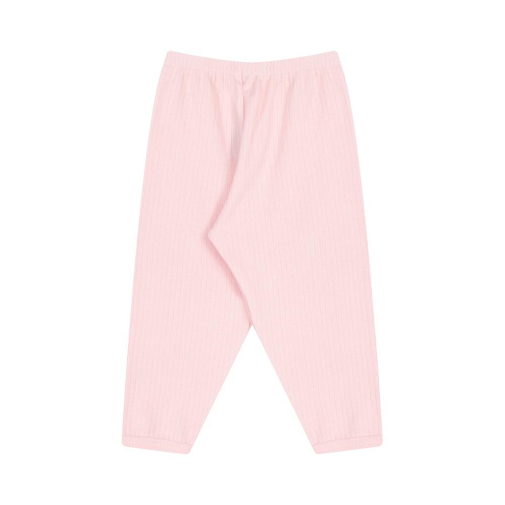Conjunto Body e Calça Canelado 100% algodão Rosa Claro