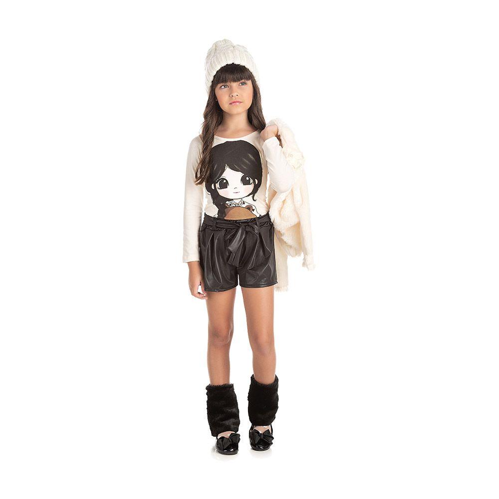 Conjunto Boneca com Shorts Cirrê