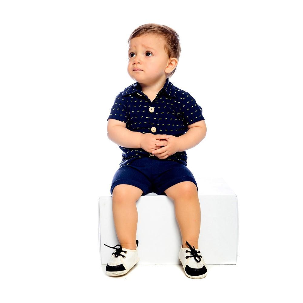 Conjunto Camisa Azul Baby Gut