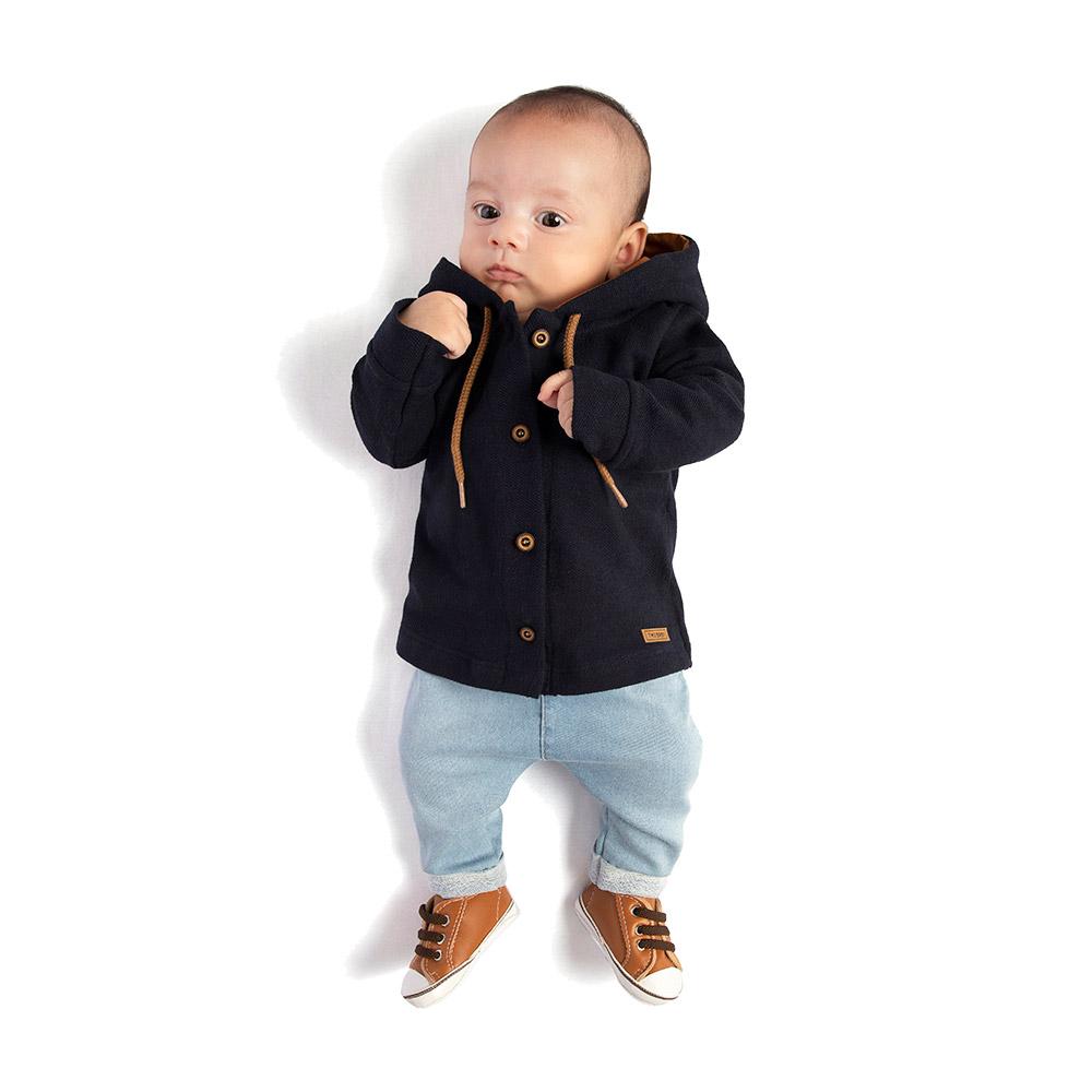 Conjunto Camisa em Piquetom e Calça Saruel em Jeans Confort TMX
