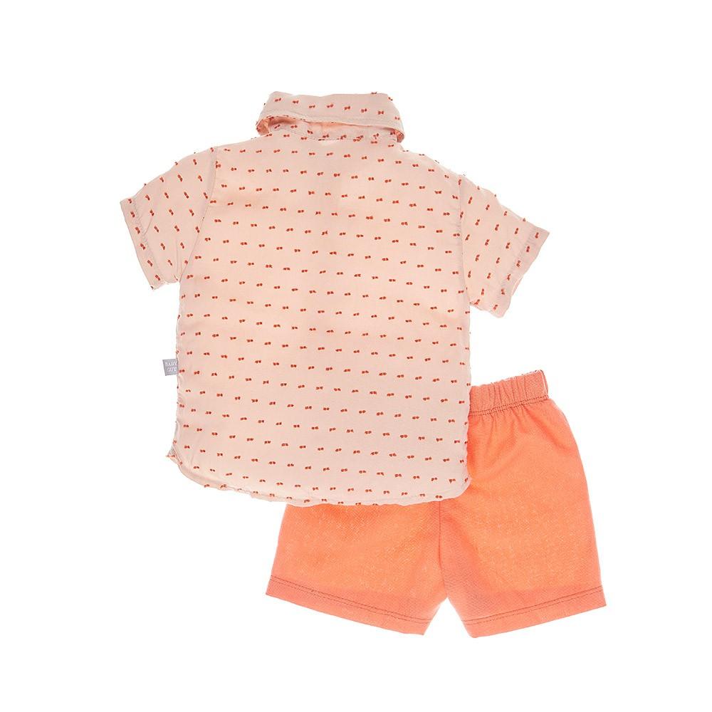 Conjunto Camisa Salmão Baby Gut