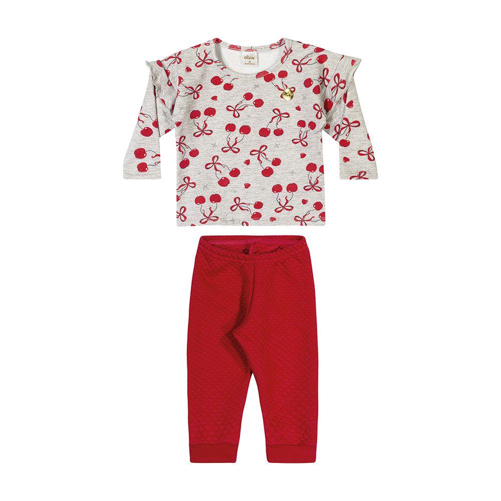 Conjunto Cereja Baby Vermelho