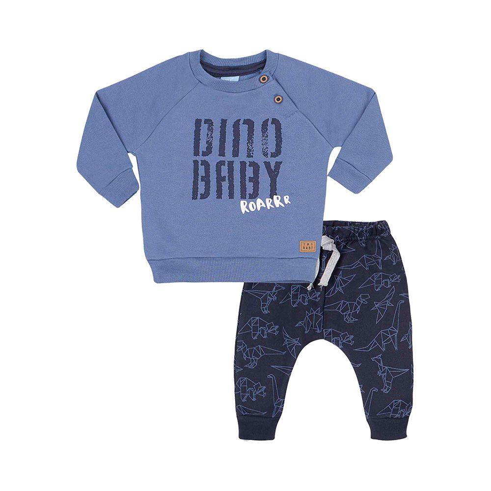 Conjunto Dino Baby Azul