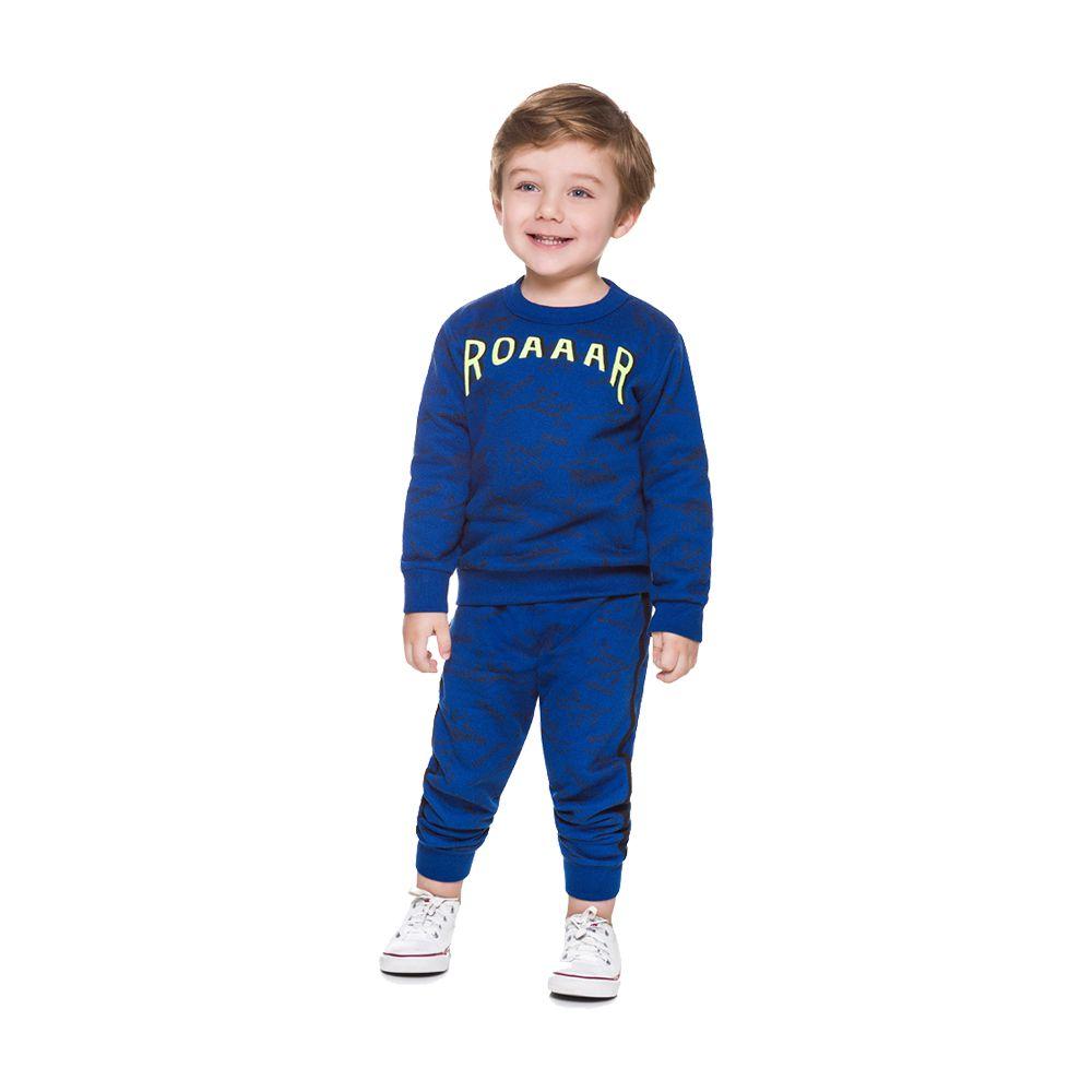 Conjunto Dino Roar Azul Brandili