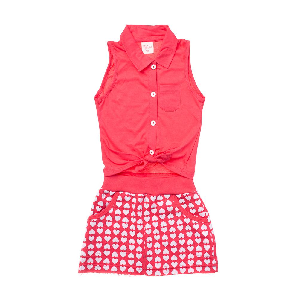 Conjunto Fashion Girl Corações Pink