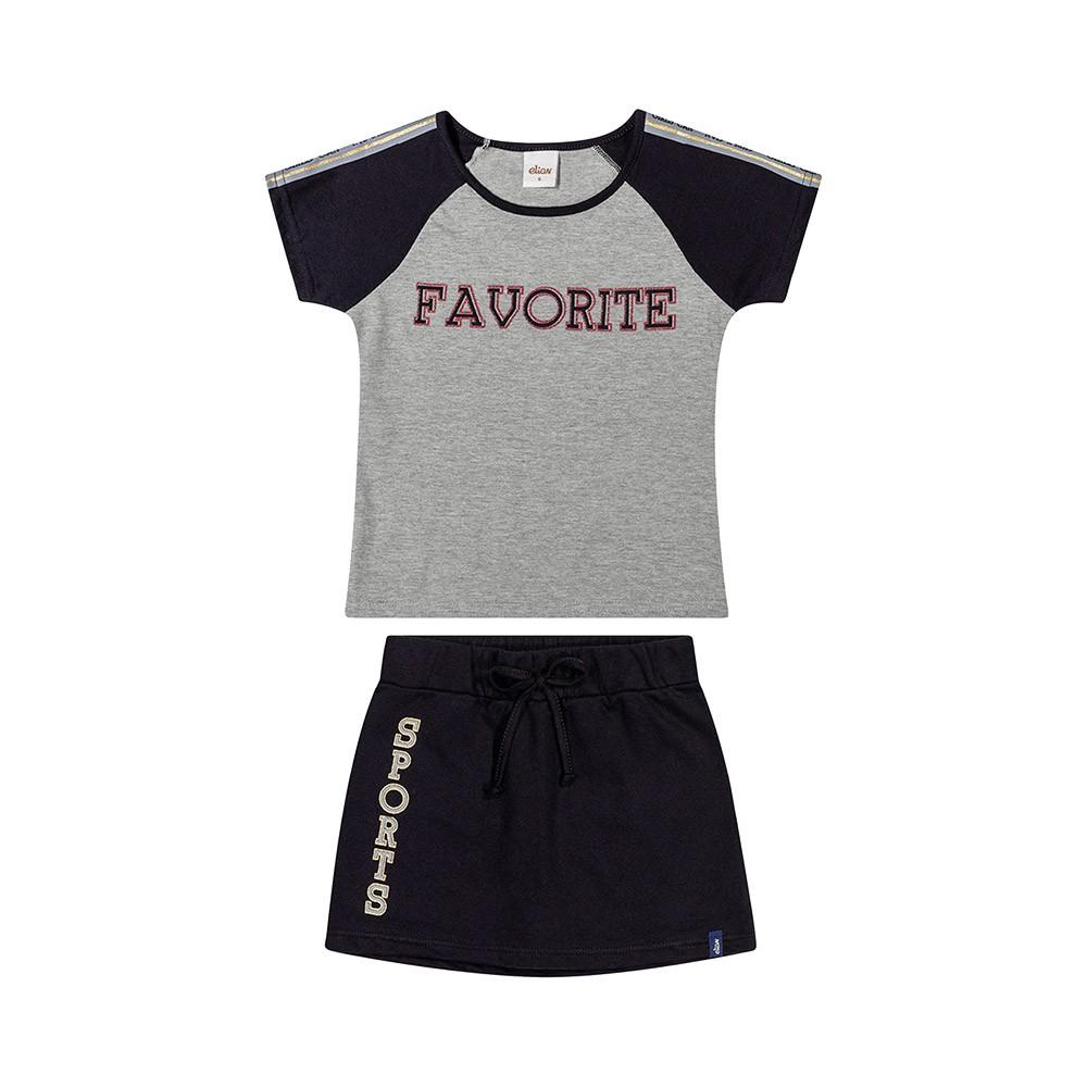 Conjunto Favorite Preto com Shorts Embutido