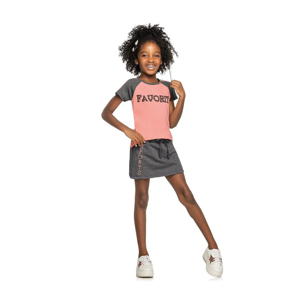 Conjunto Favorite Rosa com Shorts Embutido
