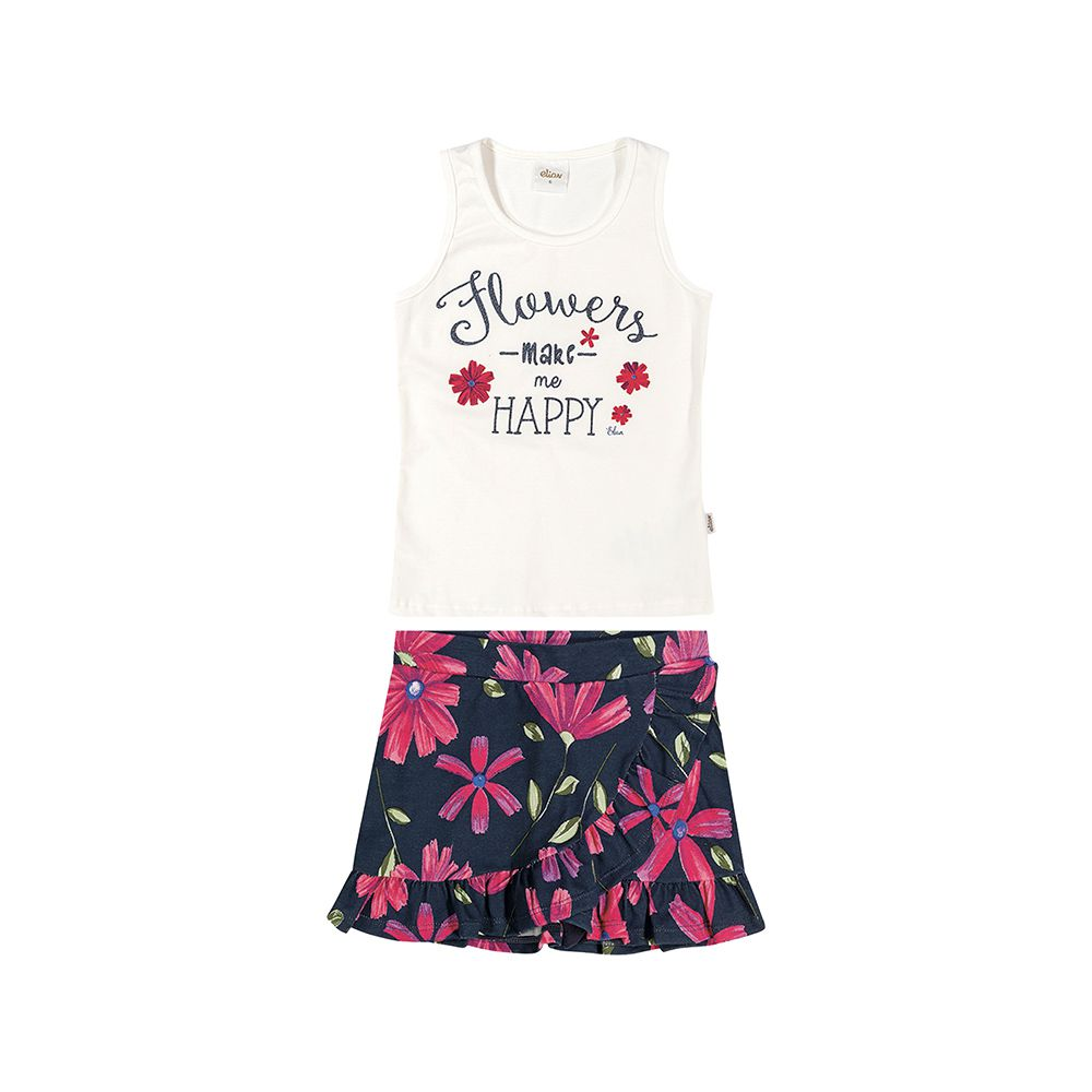 Conjunto Flowers Maky happy