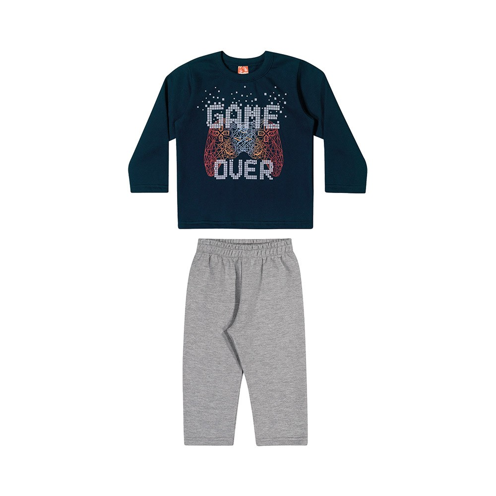 Conjunto Game Over Marinho