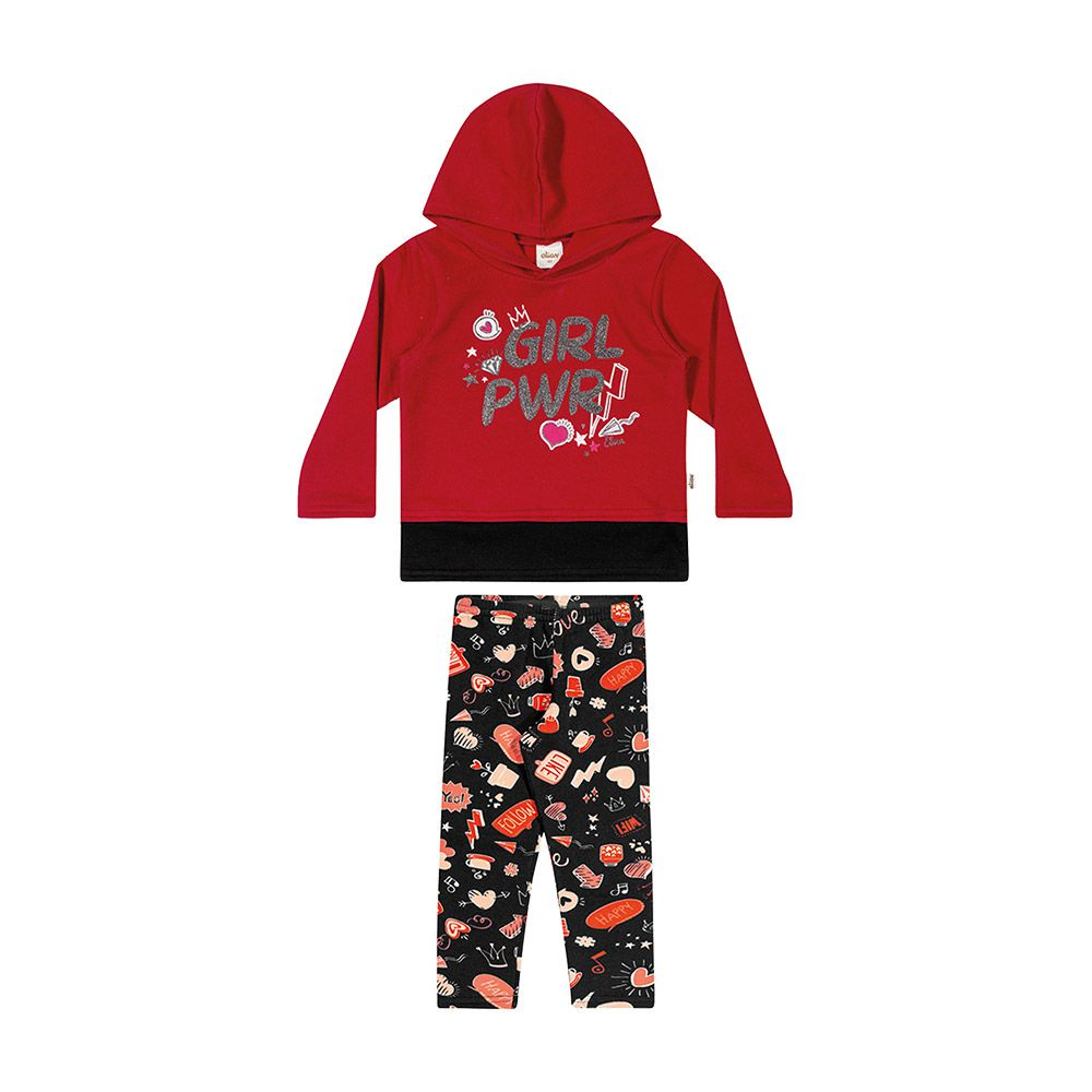 Conjunto Girl Power Vermelho