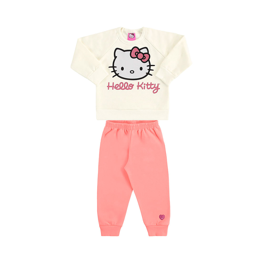 Conjunto Hello Kitty Creme cintilante - Oficial Hello Kitty Sanrio