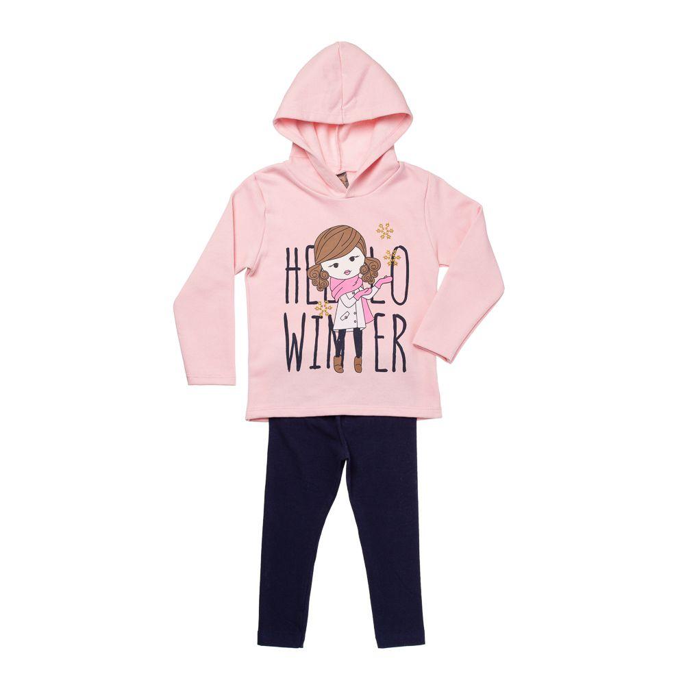 Conjunto Hello Winter Rosa