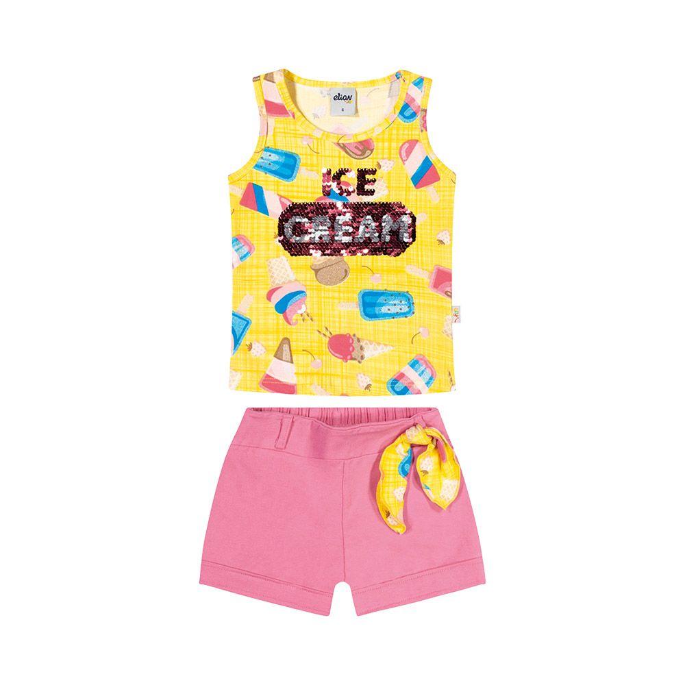 Conjunto Ice Cream Amarelo