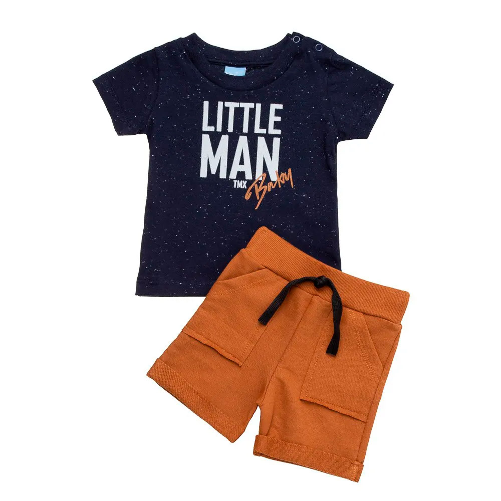 Conjunto Little Man Marinho