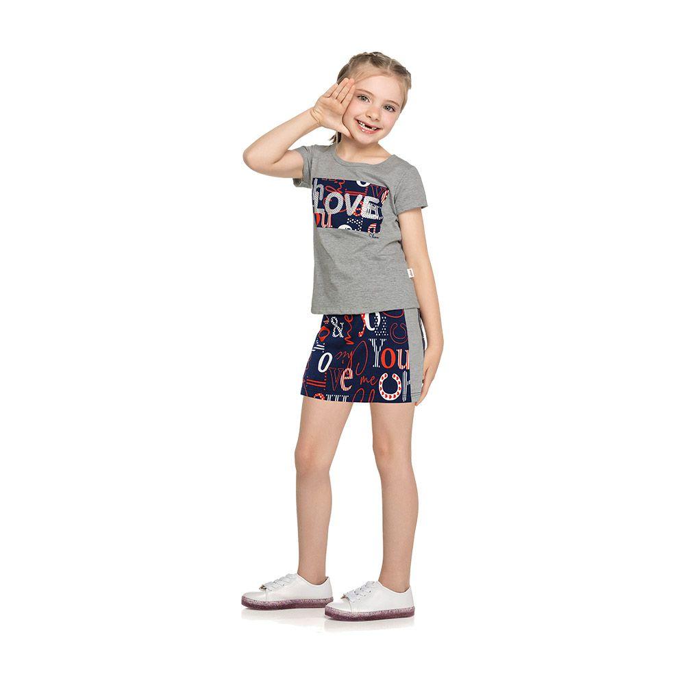 Conjunto Love Mescla com shorts embutido