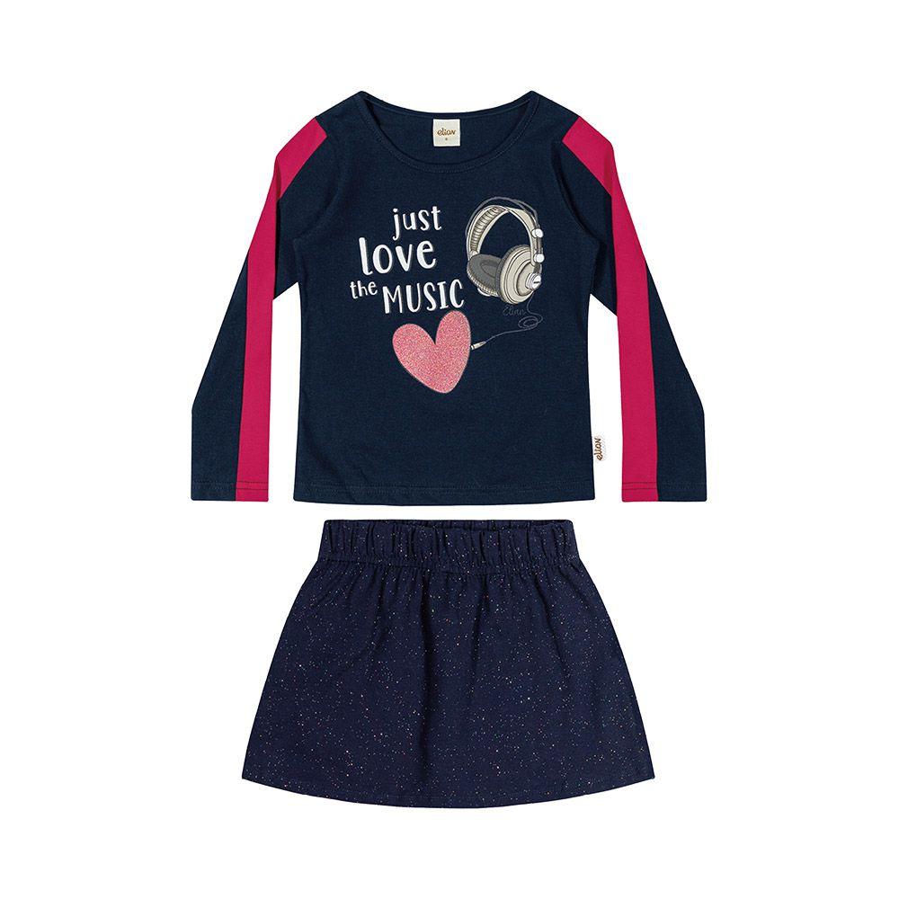 Conjunto Love The Music com shorts embutido