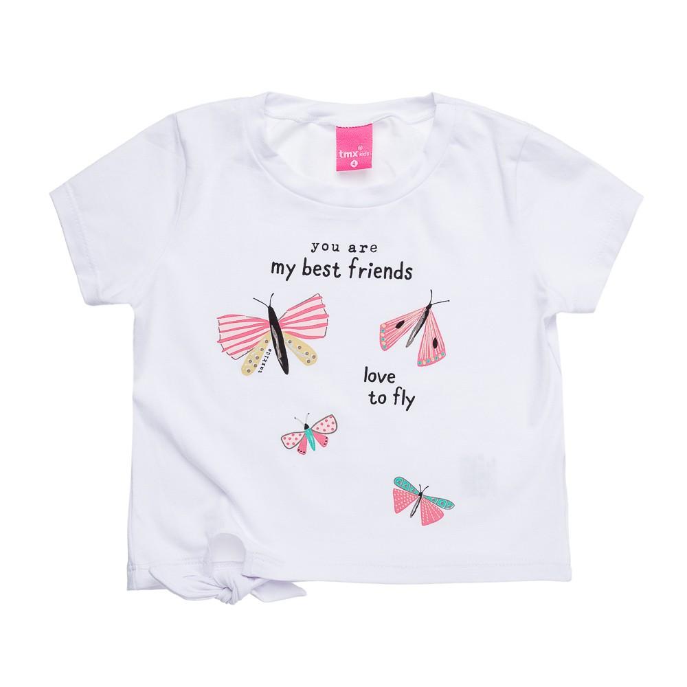 Conjunto Love To Fly Branco (com shortinho extra)