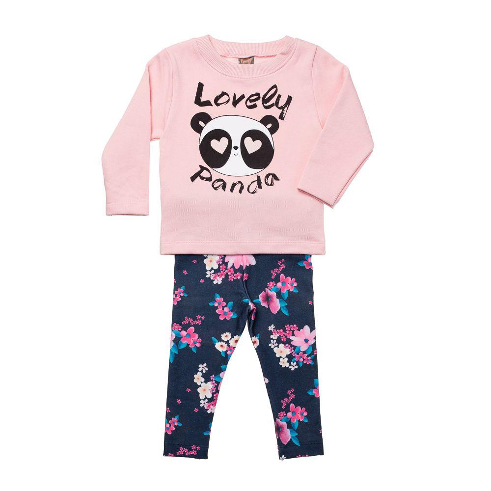 Conjunto Lovely Panda Rosa