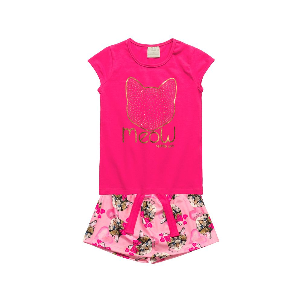 Conjunto Meow Pink