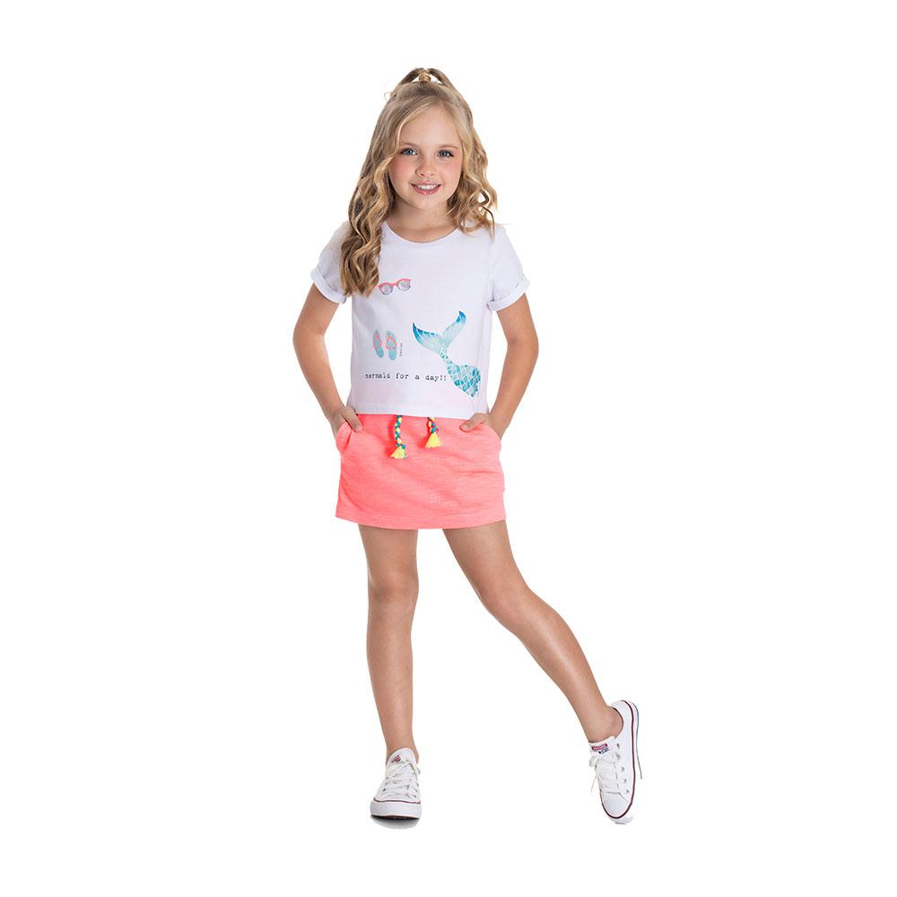 Conjunto Mermaid TMX com Shorts Saia