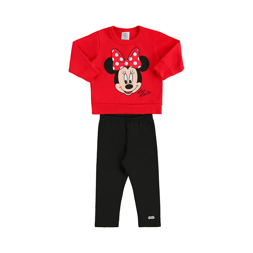 Conjunto Minnie Vermelho - Oficial Disney