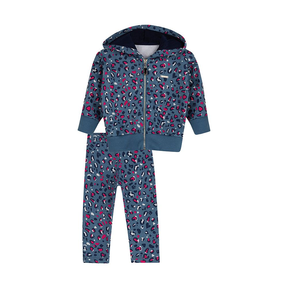 Conjunto Oncinha Fashion Azul