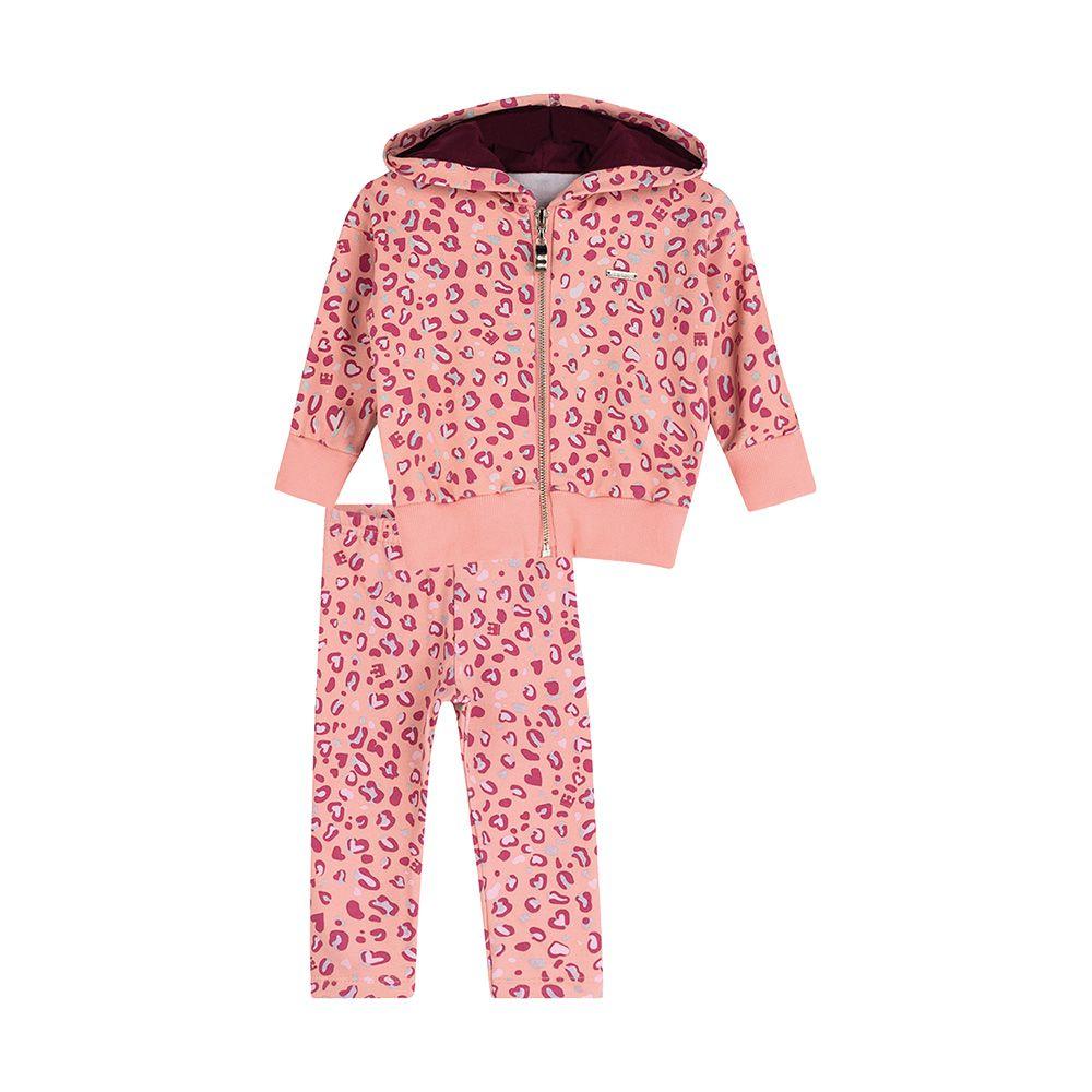 Conjunto Oncinha Fashion Rosa