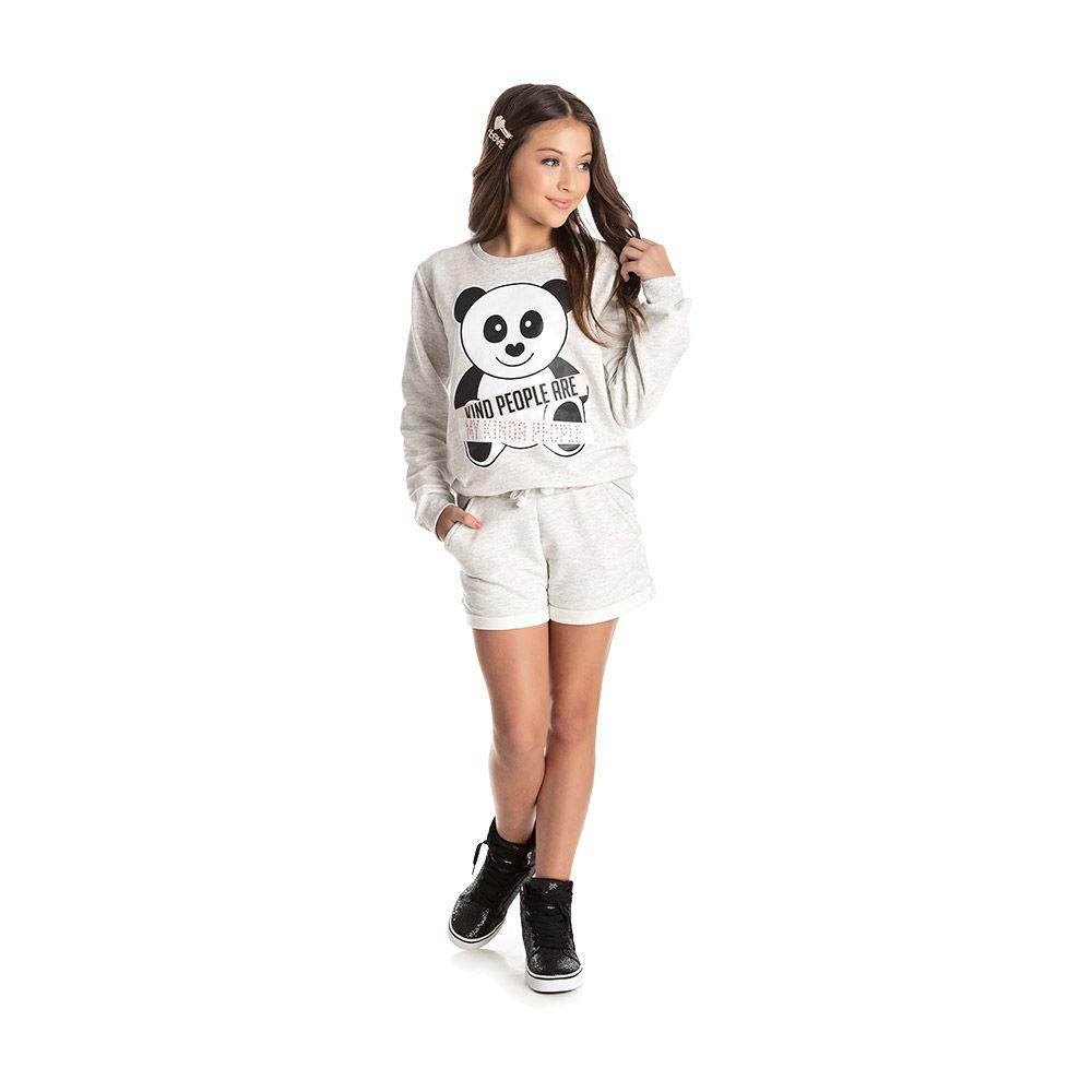 Conjunto Panda Teen Mescla