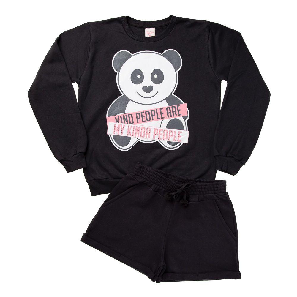 Conjunto Panda Teen Preto