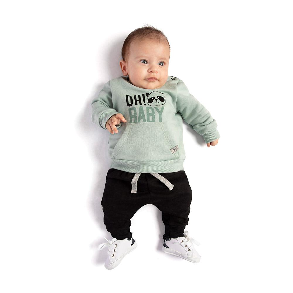 Conjunto Pandinha Baby Verde TMX